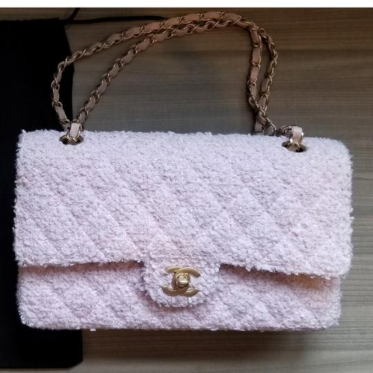 Chanel Classic Double Flap Quilted Tweed Shoulder Bag