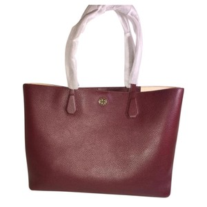 Tory Burch Tote in deep cherry