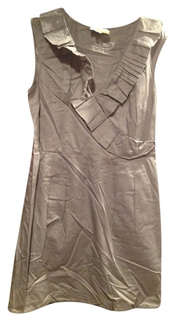 Ann Taylor LOFT short dress Gray with Black stripe on bottom on Tradesy