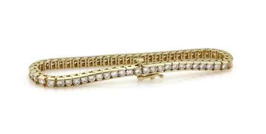 Other 8ct Round Cut Diamonds 14k Yellow Gold Box Link Tennis Bracelet