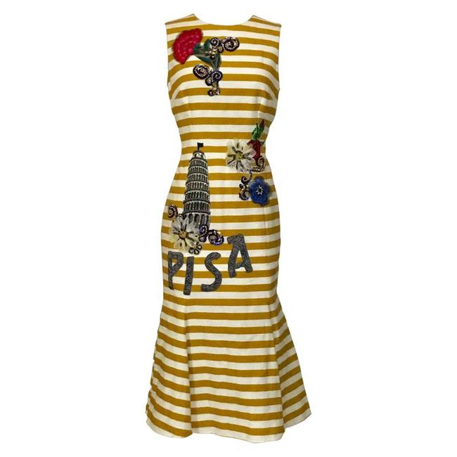 Preload https://img-static.tradesy.com/item/22030569/dolce-and-gabbana-yellow-new-pisa-mid-length-cocktail-dress-size-6-s-0-0-650-650.jpg