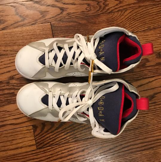 Air Jordan Red, White and Blue Athletic