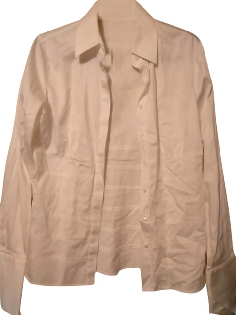 Item - White Shirt Button-down Top Size 14 (L)