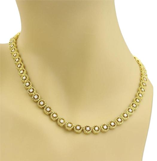 Preload https://img-static.tradesy.com/item/22030870/yellow-gold-400ct-diamond-14k-circle-bead-link-tennis-necklace-0-1-540-540.jpg
