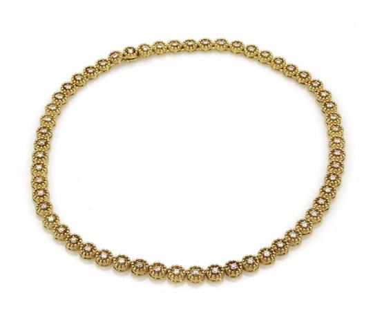 Other 4.00ct Diamond 14k Yellow Gold Circle Bead Link Tennis Necklace