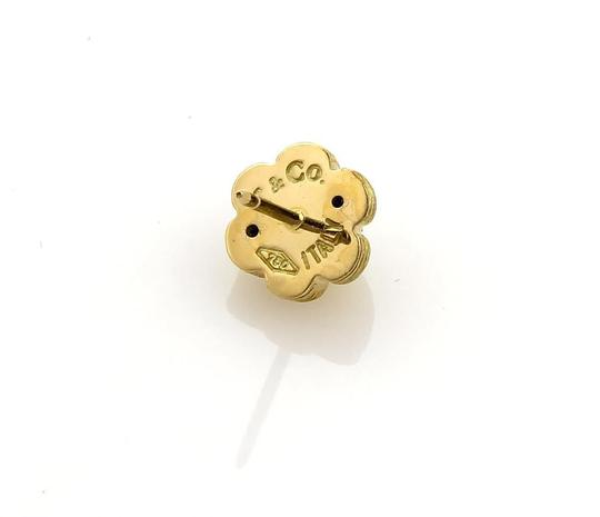 Other Diamonds 18k Yellow Gold Textured Dome Floral Stud Earrings