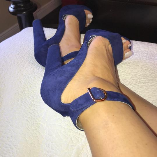 Prada Blue Platforms