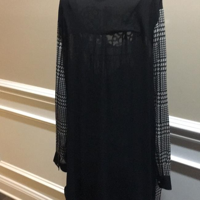 Michael Kors short dress Black with check sleeves on Tradesy