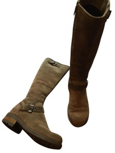 La Canadienne Suede Riding Buckle brown Boots