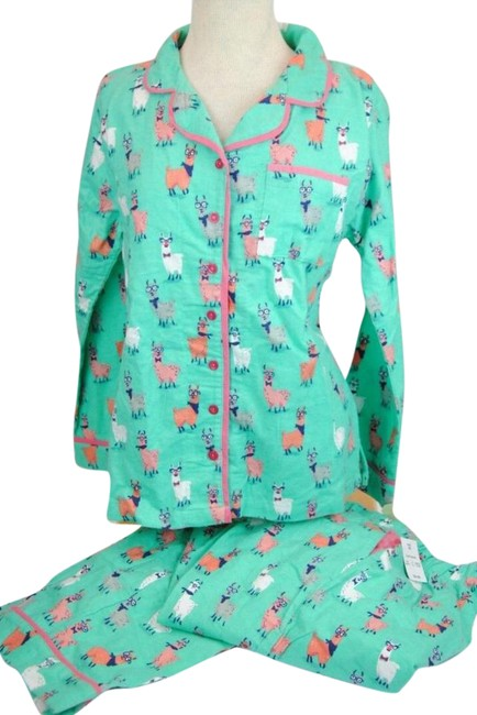 Item - Blue Llama Drama Flannel Pj Set By Activewear Size 20 (Plus 1x)