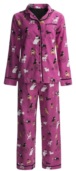 Preload https://img-static.tradesy.com/item/22031155/pink-dogs-in-top-hats-flannel-pj-large-pant-suit-size-14-l-0-1-650-650.jpg