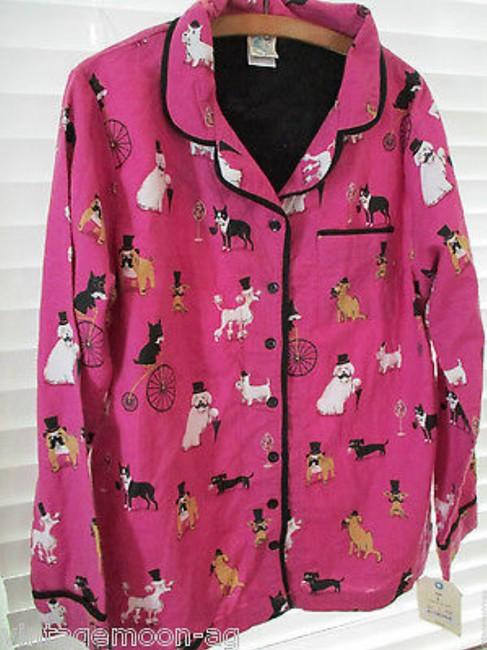 Munki Munki MUNKI MUNKI Dogs in Top Hats Flannel PJ Set Size Large