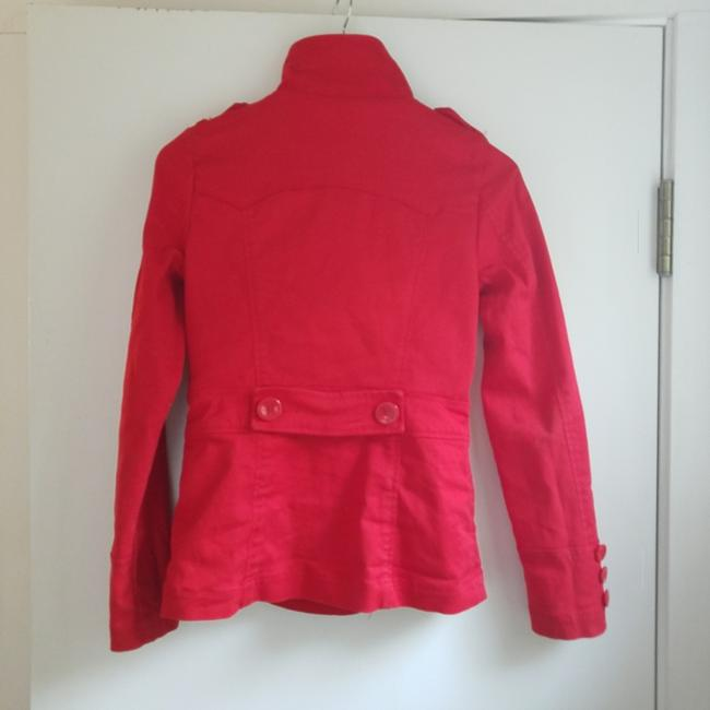 Divided by H&M Cotton Double-breasted Casual Blazer Canvas red Jacket