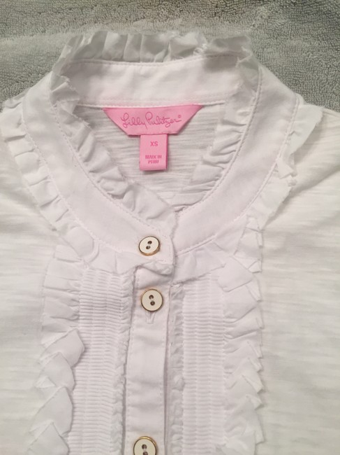 Lilly Pulitzer Ruffles Top White