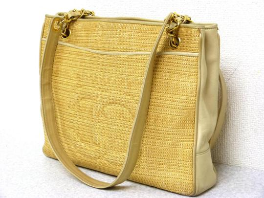 Chanel Straw Woven Hemp Wicker Gst Shoulder Bag