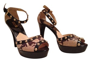 Michael by Michael Kors Studded snake Platforms