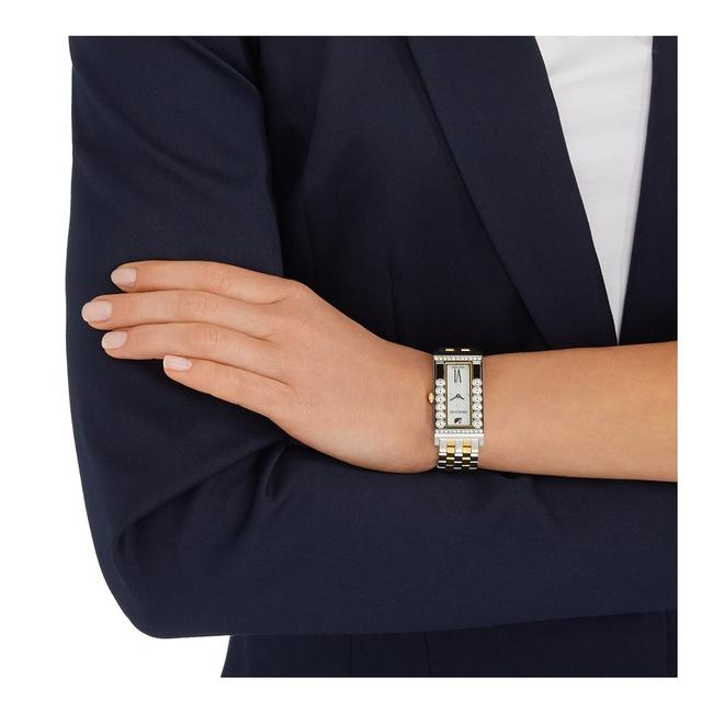 Item - Gold Silver Lovely Crystals Square 5096689 2-tone Stainless Steel Watch