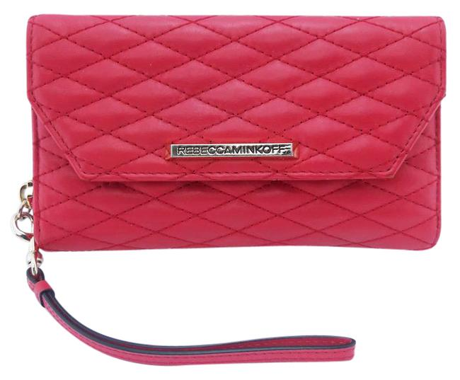 Item - Clutch Quilted Clutch/Wallet Hot Pink Leather Wristlet