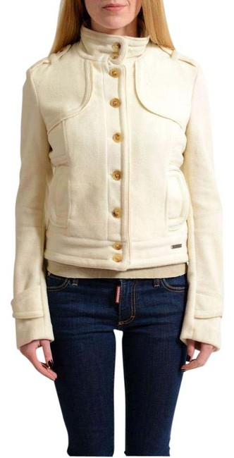 Item - Off-white Wool Cashmere Button Down Women's Basic Jacket Size 4 (S)
