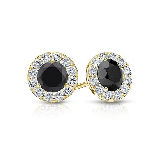 Preload https://img-static.tradesy.com/item/22032469/black-onyx-and-cz-halo-stud-in-14k-yellow-gold-200cttw-earrings-0-0-540-540.jpg