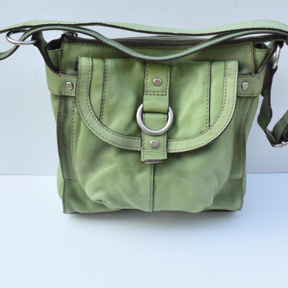 best website lower price with top quality Fossil Green Leather Handbags