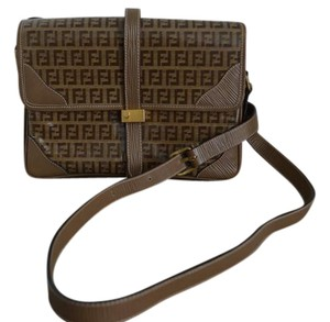 Fendi Vintage Monogram Logo Front Flap Cross Body Bag