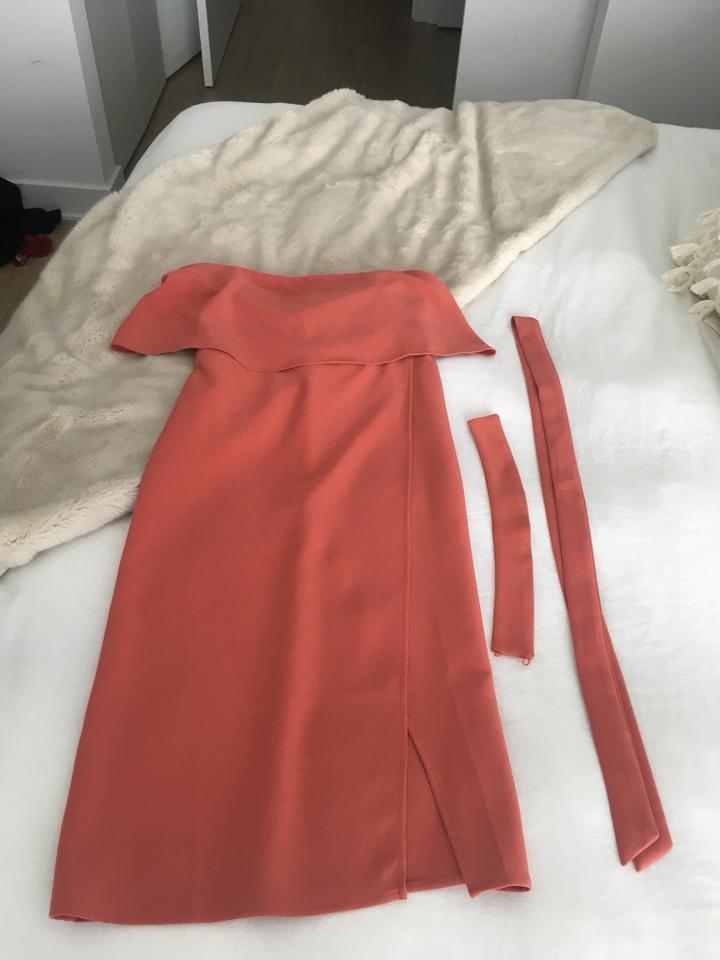 ac27b9dcbdd Lovers + Friends Blood Orange X Revolve Max Midi Mid-length Cocktail Dress  Size 4 (S) - Tradesy