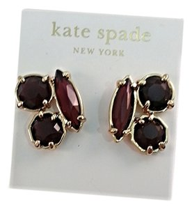 Kate Spade Kate Spade Burgandy Cluster Stud Earrings