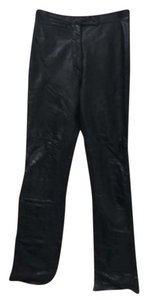 Wilsons Leather Straight Pants black