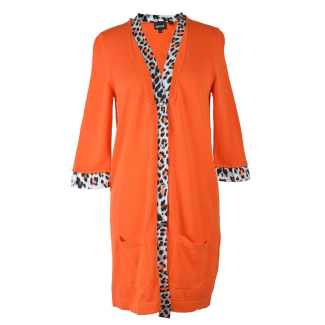Preload https://img-static.tradesy.com/item/22033208/just-cavalli-orange-34-sleeve-sweater-cardigan-size-4-s-0-0-650-650.jpg