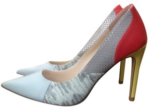 Rock & Republic Blue silver red yellow Pumps