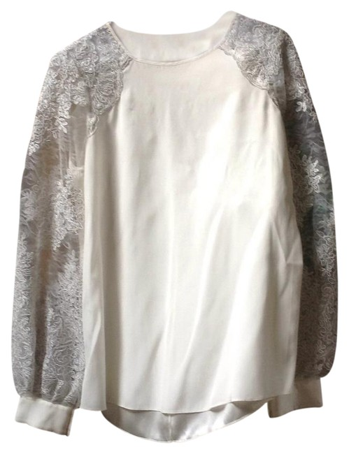Preload https://img-static.tradesy.com/item/22033413/kay-unger-pearl-lace-and-silk-blouse-size-8-m-0-1-650-650.jpg