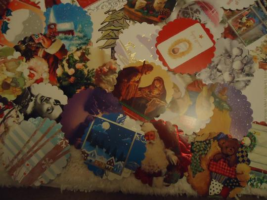 Multicolor 100 Winter Theme Wishing Or Escort Tags Or As Drink Coasters Reception Decoration Image 1