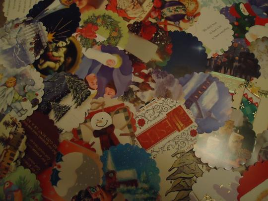 Multicolor 100 Winter Theme Wishing Or Escort Tags Or As Drink Coasters Reception Decoration Image 3