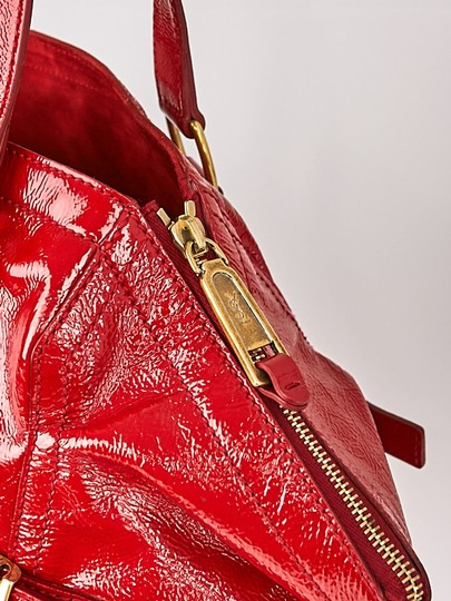 Saint Laurent Downtown Red Patent Leather Tote - Tradesy 51ad0f8506
