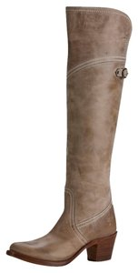 Frye Women's Jane Leather Taupe Boots