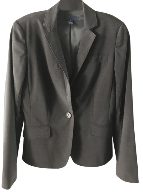 J.Crew Charcoal Grey Tailored Suit Jacket Blazer Size 2 (XS) J.Crew Charcoal Grey Tailored Suit Jacket Blazer Size 2 (XS) Image 1
