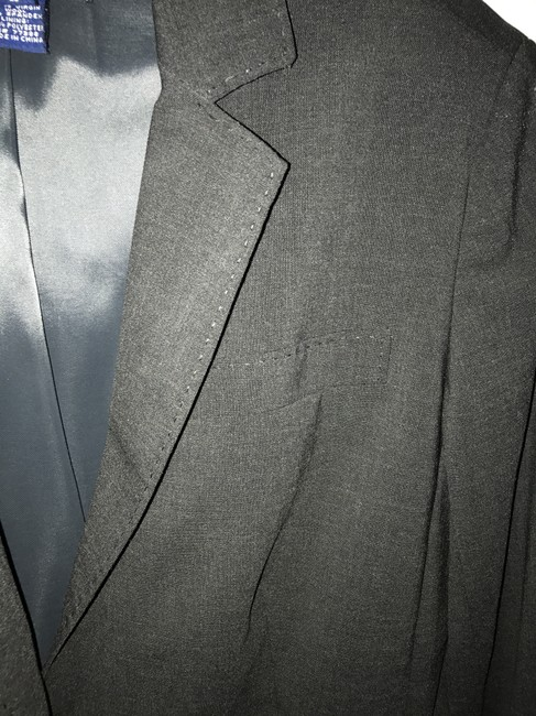 J.Crew Charcoal Grey Tailored Suit Jacket Blazer Size 2 (XS) J.Crew Charcoal Grey Tailored Suit Jacket Blazer Size 2 (XS) Image 4