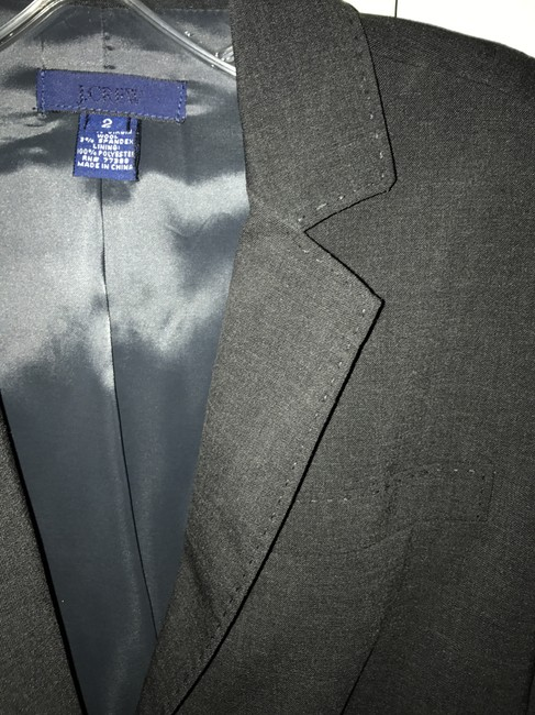 J.Crew Charcoal Grey Tailored Suit Jacket Blazer Size 2 (XS) J.Crew Charcoal Grey Tailored Suit Jacket Blazer Size 2 (XS) Image 5
