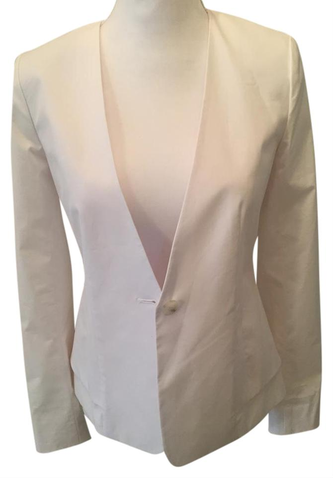 26e670b95f Theory Wear To Work Lycra Classic White Blazer Image 0 ...