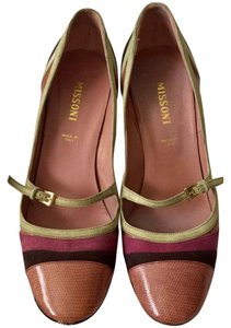 Missoni Heels Leather Suede rose/brown/light green Pumps
