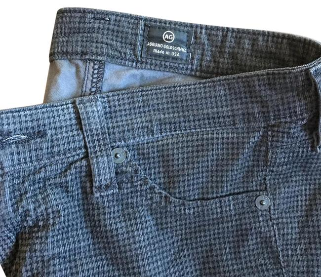 Item - Grey and Black Gingham Print Corduroy Legging Skinny Jeans Size 25 (2, XS)
