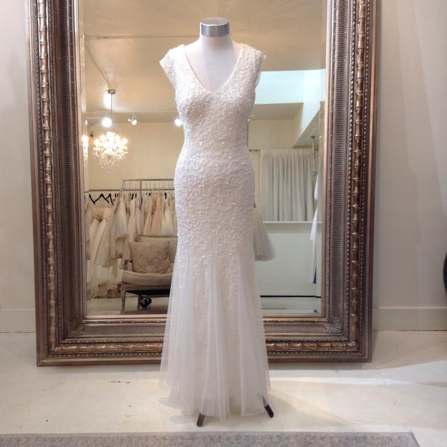 Item - Ivory English Net Sequins 54457110 Casual Wedding Dress Size 6 (S)