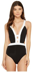 Jet Set JETS by Jessika Allen Classique Plunge One-Piece Swimsuit
