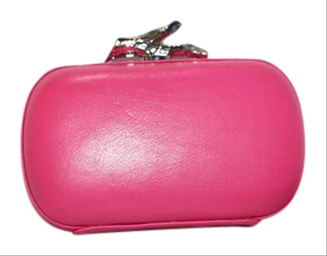 Item - Lytton Small Neon Pink Leather Clutch