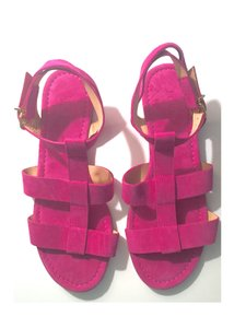 J.Crew Suede Gladiator Pre-fall Jewel Tone Transitional Pink Sandals