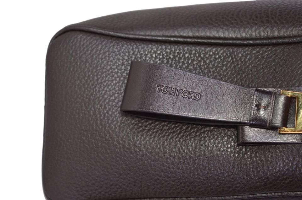 28616227599c Tom Ford New Men's 080 Grained Buckley Brown Leather Weekend/Travel Bag 46%  off retail