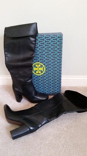 Tory Burch Devon Devon Knee High Black Boots Image 1