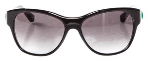David Yurman Black Acetate Gradient Lens Sunglasses