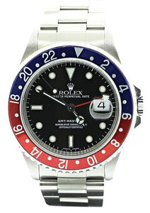 Rolex GMT Master II Pepsi Red Blue Bezel Watch 16710